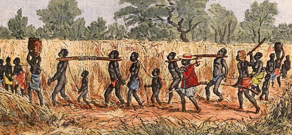 Sklaven am Joch